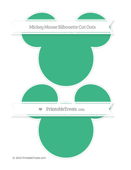 Free Mint Green Large Mickey Mouse Silhouette Cut Outs
