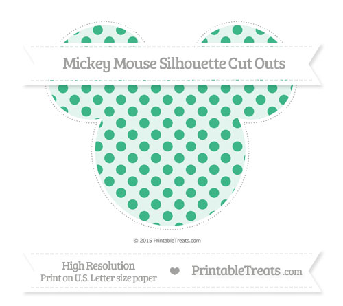 Free Mint Green Polka Dot Extra Large Mickey Mouse Silhouette Cut Outs