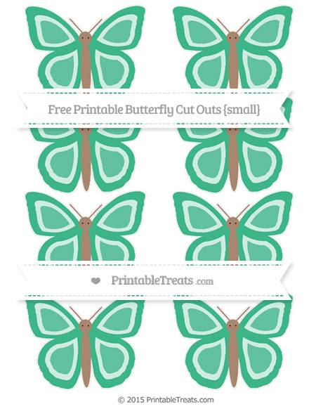 Free Mint Green Small Butterfly Cut Outs
