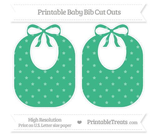 Free Mint Green Star Pattern Large Baby Bib Cut Outs