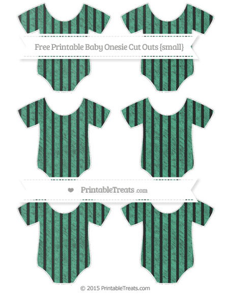 Free Mint Green Thin Striped Pattern Chalk Style Small Baby Onesie Cut Outs