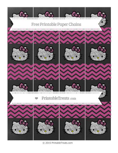 Free Mulberry Purple Chevron Chalk Style Hello Kitty Paper Chains