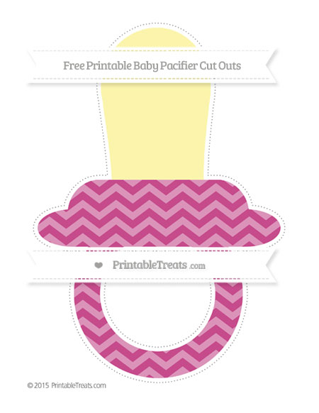 Free Mulberry Purple Chevron Extra Large Baby Pacifier Cut Outs