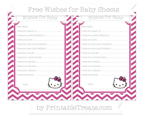 Free Mulberry Purple Chevron Hello Kitty Wishes for Baby Sheets
