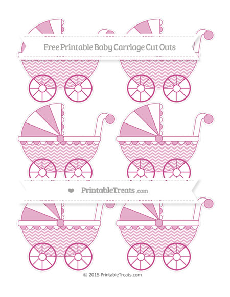 Free Mulberry Purple Chevron Small Baby Carriage Cut Outs
