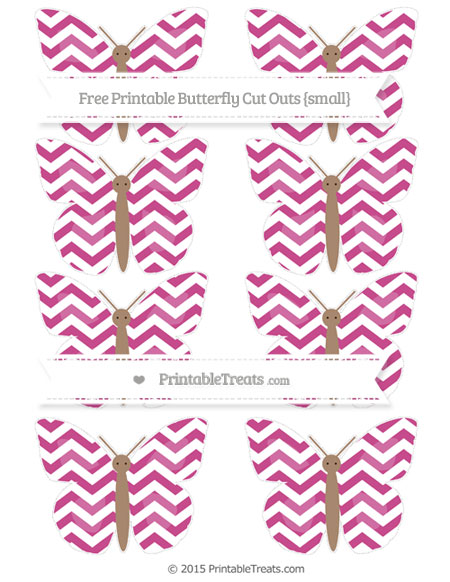 Free Mulberry Purple Chevron Small Butterfly Cut Outs