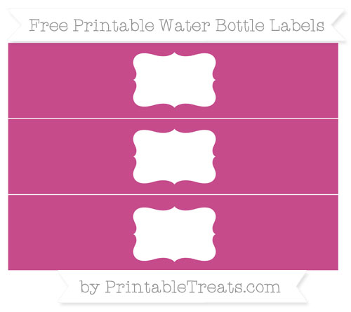 Free Mulberry Purple Water Bottle Labels