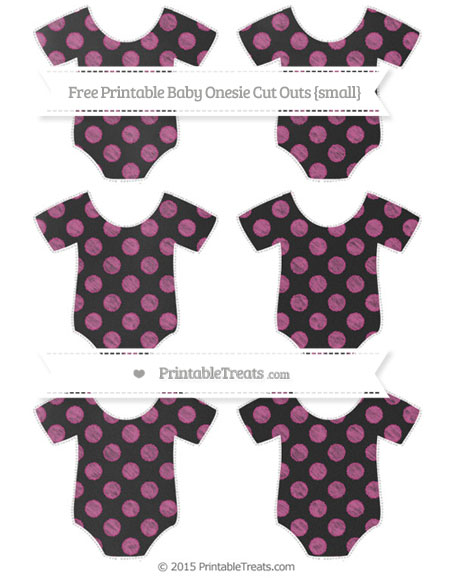 Free Mulberry Purple Dotted Pattern Chalk Style Small Baby Onesie Cut Outs
