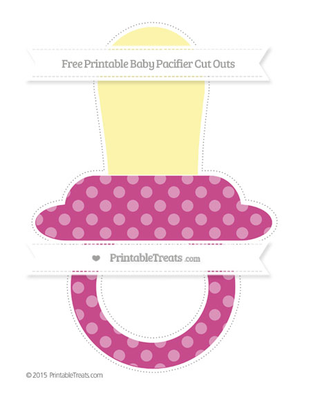 Free Mulberry Purple Dotted Pattern Extra Large Baby Pacifier Cut Outs
