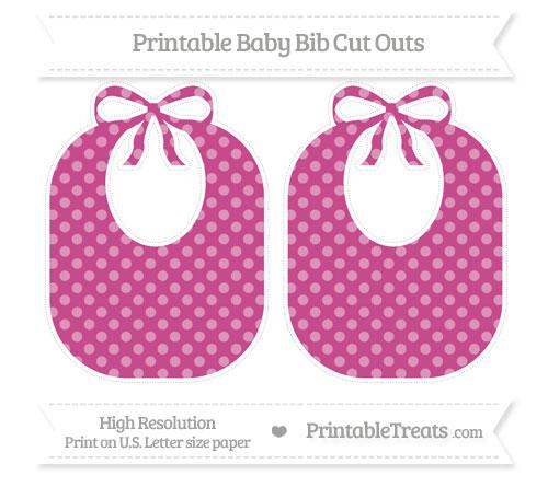 Free Mulberry Purple Dotted Pattern Large Baby Bib Cut Outs