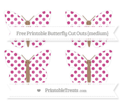 Free Mulberry Purple Dotted Pattern Medium Butterfly Cut Outs
