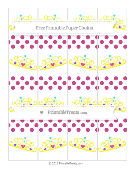 Free Mulberry Purple Dotted Pattern Princess Tiara Paper Chains