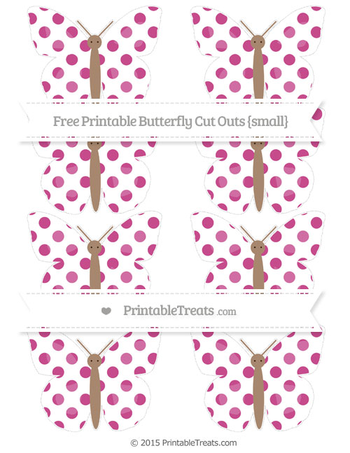 Free Mulberry Purple Dotted Pattern Small Butterfly Cut Outs