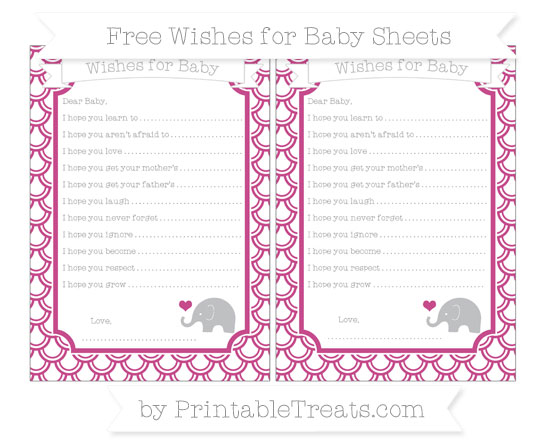 Free Mulberry Purple Fish Scale Pattern Baby Elephant Wishes for Baby Sheets