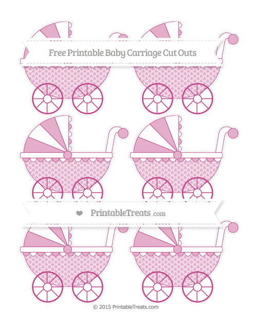Free Mulberry Purple Fish Scale Pattern Small Baby Carriage Cut Outs