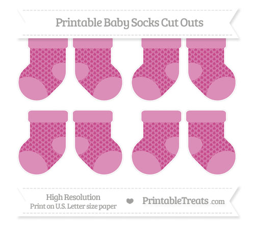Free Mulberry Purple Fish Scale Pattern Small Baby Socks Cut Outs
