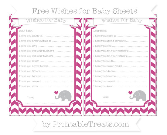 Free Mulberry Purple Herringbone Pattern Baby Elephant Wishes for Baby Sheets