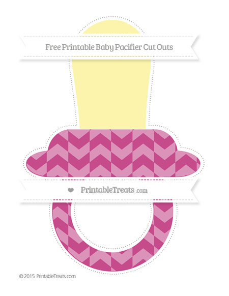 Free Mulberry Purple Herringbone Pattern Extra Large Baby Pacifier Cut Outs