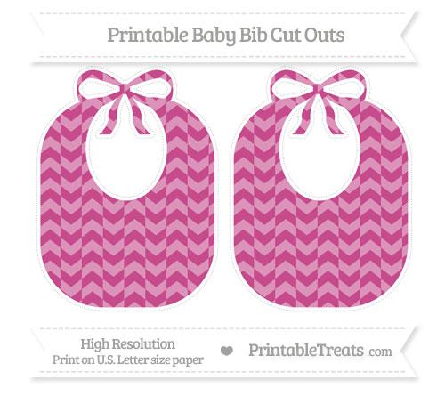 Free Mulberry Purple Herringbone Pattern Large Baby Bib Cut Outs
