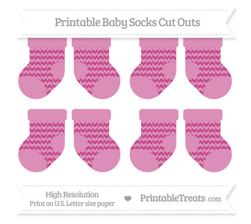 Free Mulberry Purple Herringbone Pattern Small Baby Socks Cut Outs
