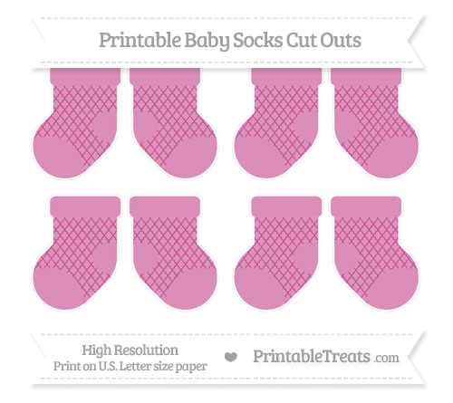 Free Mulberry Purple Moroccan Tile Small Baby Socks Cut Outs