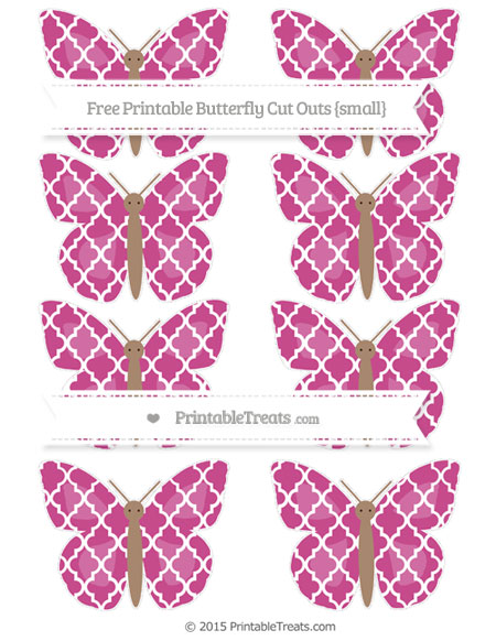Free Mulberry Purple Moroccan Tile Small Butterfly Cut Outs
