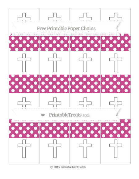 Free Mulberry Purple Polka Dot Cross Paper Chains
