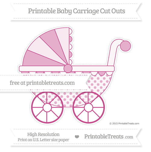 Free Mulberry Purple Polka Dot Extra Large Baby Carriage Cut Outs