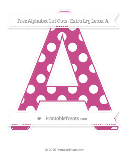 Free Mulberry Purple Polka Dot Extra Large Capital Letter A Cut Outs