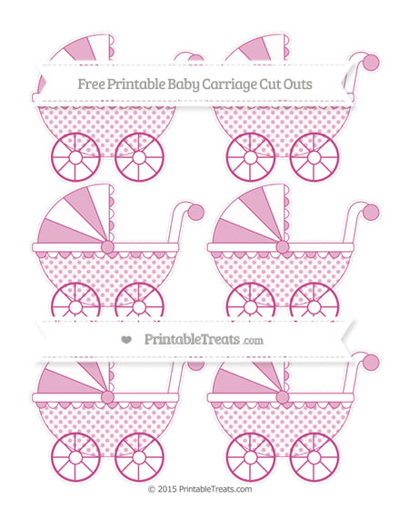 Free Mulberry Purple Polka Dot Small Baby Carriage Cut Outs