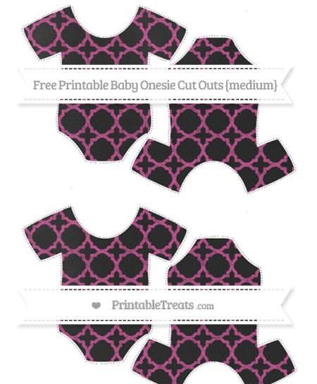 Free Mulberry Purple Quatrefoil Pattern Chalk Style Medium Baby Onesie Cut Outs