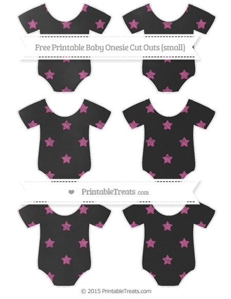 Free Mulberry Purple Star Pattern Chalk Style Small Baby Onesie Cut Outs