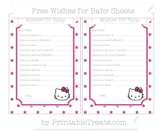 Free Mulberry Purple Star Pattern Hello Kitty Wishes for Baby Sheets
