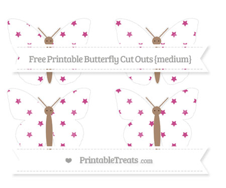 Free Mulberry Purple Star Pattern Medium Butterfly Cut Outs