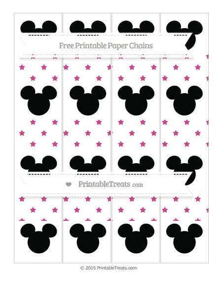 Free Mulberry Purple Star Pattern Mickey Mouse Paper Chains