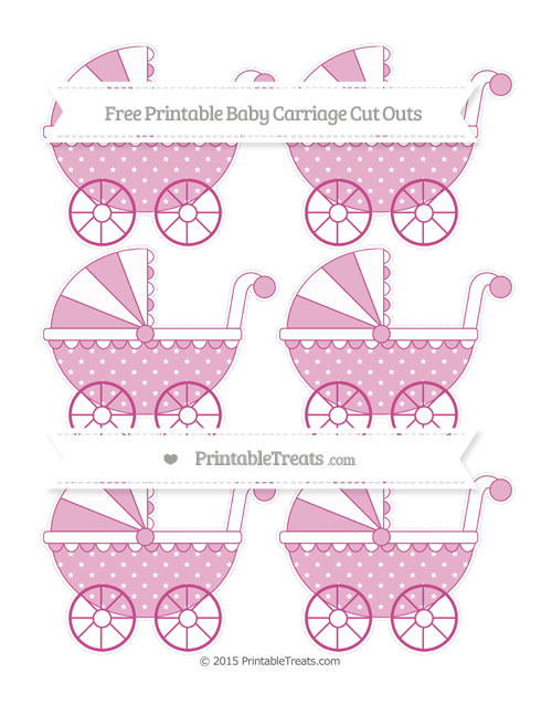 Free Mulberry Purple Star Pattern Small Baby Carriage Cut Outs
