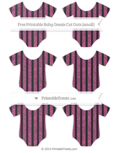 Free Mulberry Purple Striped Chalk Style Small Baby Onesie Cut Outs
