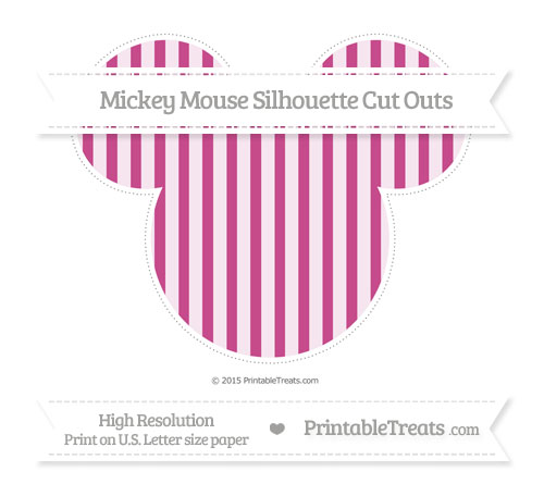 Free Mulberry Purple Striped Extra Large Mickey Mouse Silhouette Cut Outs