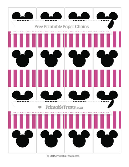 Free Mulberry Purple Striped Mickey Mouse Paper Chains