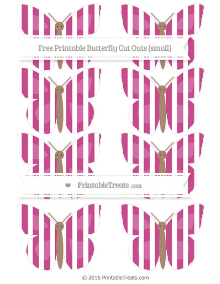 Free Mulberry Purple Striped Small Butterfly Cut Outs