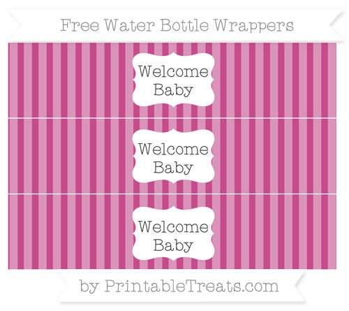 Free Mulberry Purple Striped Welcome Baby Water Bottle Wrappers