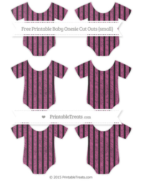 Free Mulberry Purple Thin Striped Pattern Chalk Style Small Baby Onesie Cut Outs