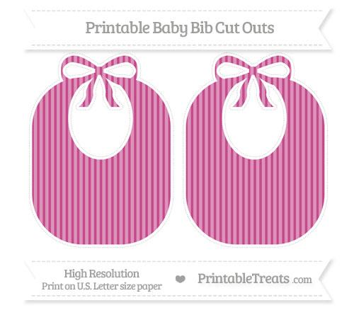Free Mulberry Purple Thin Striped Pattern Large Baby Bib Cut Outs