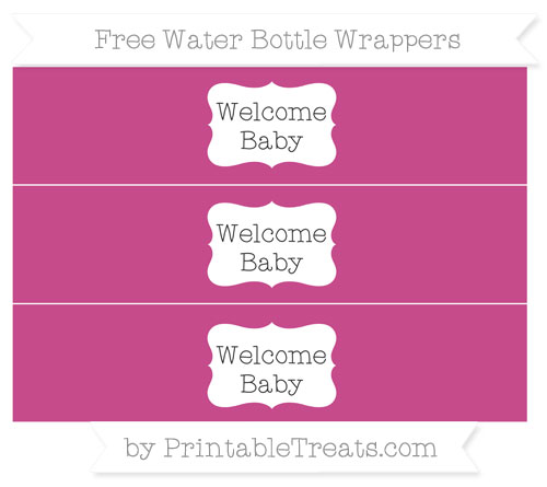 Free Mulberry Purple Welcome Baby Water Bottle Wrappers