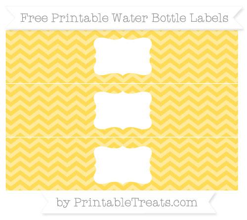Free Mustard Yellow Chevron Water Bottle Labels