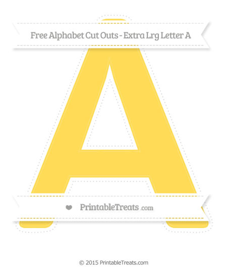 Free Mustard Yellow Extra Large Capital Letter A Cut Outs