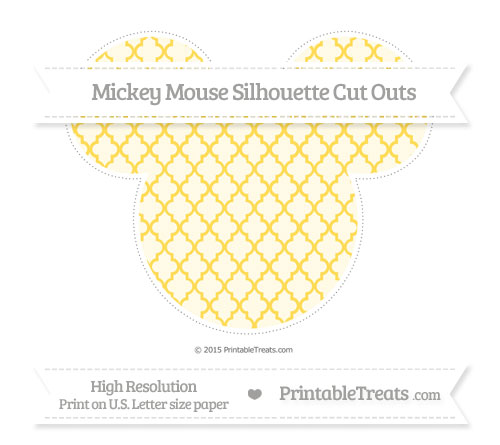 Free Mustard Yellow Moroccan Tile Extra Large Mickey Mouse Silhouette Cut Outs