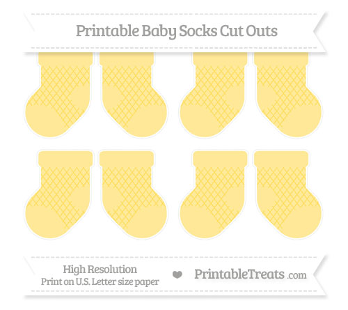 Free Mustard Yellow Moroccan Tile Small Baby Socks Cut Outs