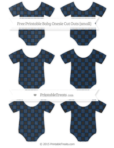 Free Navy Blue Checker Pattern Chalk Style Small Baby Onesie Cut Outs