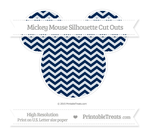 Free Navy Blue Chevron Extra Large Mickey Mouse Silhouette Cut Outs